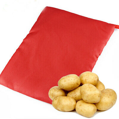 1PC NEW Red Washable Cooker Bag Baked Potato Microwave Cooking Potato Quick Fast