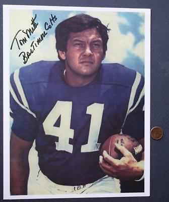 1961-72 Baltimore Colts Tom Matte Signed/Autographed color photo # 2-Ohio State*