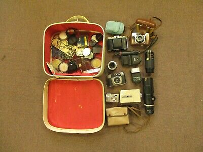 Job Lot of Vintage Cameras and Accessories