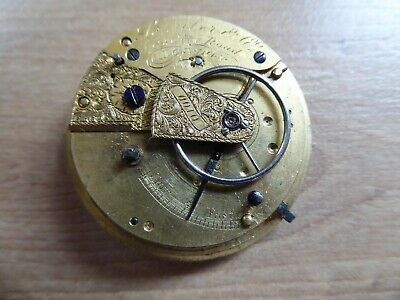 London Quality Gents  Antique Fusee  Pocket Watch Movement