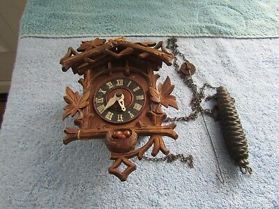 Vintage Small Black Forest Cuckoo Clock