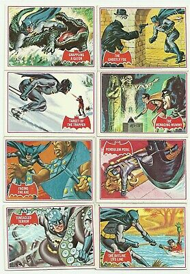 1966 Topps Batman Serie A Red Bat Complete Set 44 Cards  Exc-Nm
