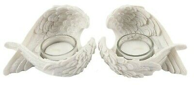 Angel Wing Tealight Candle Holder Feathered Remembrance Memorial Memory Ornament