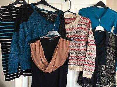 Ladies Clothes Bundle Size 8 Tops... 6 Items...  Tops Blouse Jumpers Stretch