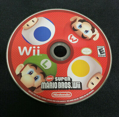 New Super Mario Bros. Wii (Nintendo Wii, 2009) *DISC ONLY*