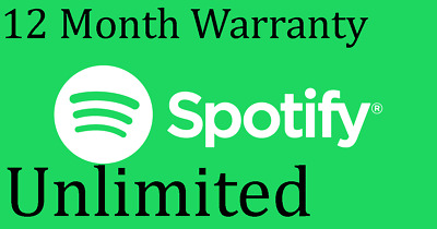 UNLIMITED Spotify Subscription / 12 Month Warranty /  Fast Delivery