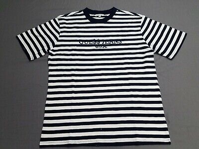 af6684f1912b Guess Jeans USA ASAP Rocky David Reactive White Navy Striped Tee T Shirt  Medium