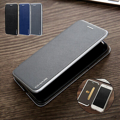 For iPhone XS Max Case XR XS Magnetic Flip Card Holder Stand Leather Thin Cover