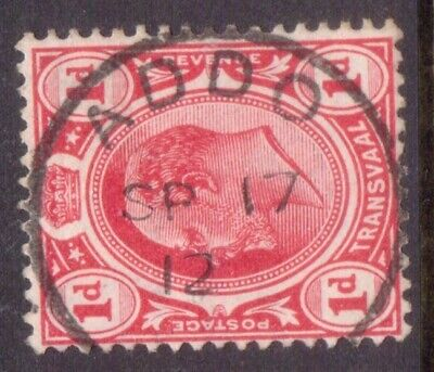 """CAPE of GOOD HOPE  POSTMARK / CANCEL  """"ADDO""""    1912  on TRANSVAAL stamp"""