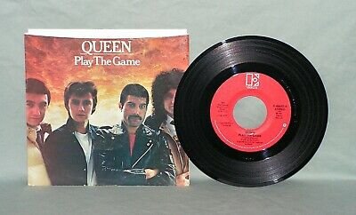 QUEEN  Play The Game  45 RPM w/PS  ELEKTRA 46652  NEAR MINT+