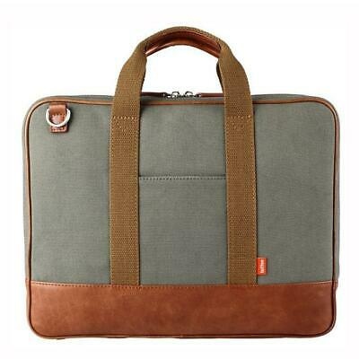 "Toffee Piccadilly Briefcase for 13"" Notebook or iPad/Tablet  Messenger Shoulder"