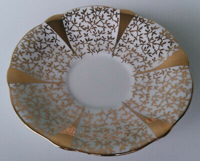 Queen Anne - Gold Lace - Fine Bone China Saucer For Teacup - England