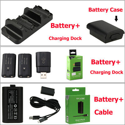 Rechargeable Battery Pack + 1/2 USB Charging Dock /Cable For Xbox One Charge KIT