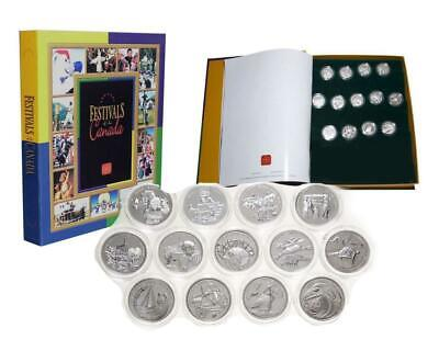 Festivals of Canada 50 Cent Proof Set Silver 2001-2003 13 Coin Mint Choice