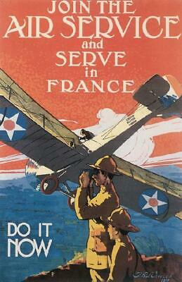 WWI Army Air Corp Poster 1917 Join the Air Service 16x24