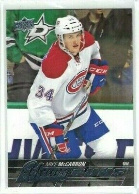 15-16 2015-16 UPPER DECK SERIES 2 MIKE McCARRON YOUNG GUNS ROOKIE CARD SP #491