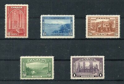 Canada  Scott#1241/45 1938 Pictorials  Mint Never Hinged