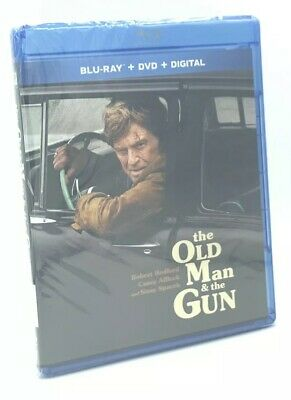 Old Man and the Gun, The (Blu-ray+DVD+Digital, 2019) NEW w/ Slipcover  Redford