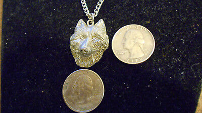 bling silver plated WOLF HEAD mascot animal pendant charm chain hip hop necklace