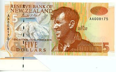 New Zealand Paper $.00 Banknote with Large Flap UNC - AA008175