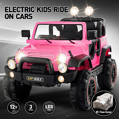 Kids Jeep Ride On Car 12V Electric Power Wheels Remote Control MP3 LED Light Toy