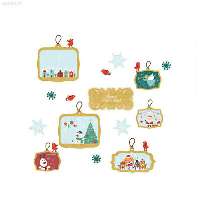 CB57 Window Wallpaper Glass Decal Christmas Wall Stickers Background Xmas