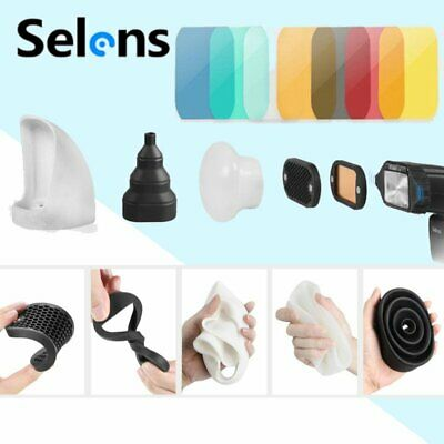 Selens Magnet Flash Control Honeycomb Grid Sphere Bounce Snoot Diffuser Kit+ Bag