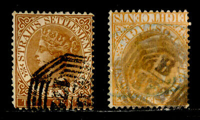 Straits Settlements: 1867 Classic Stamp Collection Sct #10,13 Cv $25.50 Sound