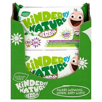 Jackson Reece, Kinder by Nature Herbal Baby Wipes 10 Packs (Biodegradable)