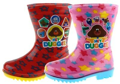 Boys Girls Hey Duggee Wellington Boots Character Snow Rain Wellies Shoes Nursery