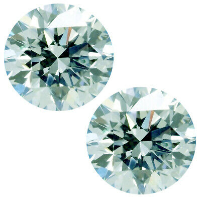 1.40ct 2pc VVS1/5.88mm ice WHITE COLOR ROUND LOOSE MOISSANITE DIAMOND 4 Earrings