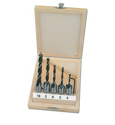Mannesmann Wood Countersink Drill Set 5 pcs <> 4mm - 10mm <> Adjustable GS TUV