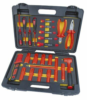 "Mannesmann Electrician Insulated VDE 1/2"" Ratchet & Socket Set 24 Pcs DIN GS TUV"