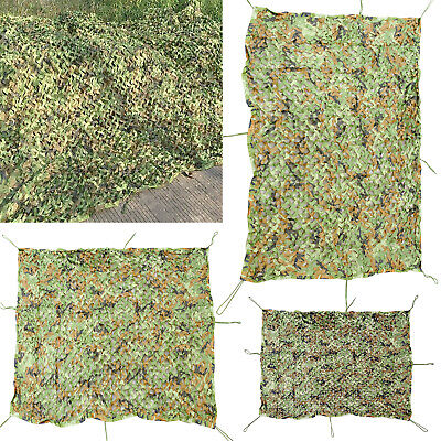 Camouflage Net Hunting Shooting Camping Woodland Army Camo Netting Hide UK