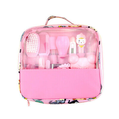 Newborn Baby Health Care Set Nail Hair Brush Thermometer Kids Grooming Bag Kit