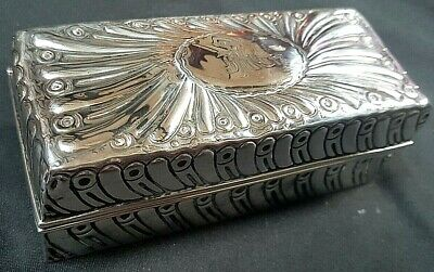 Victorian Silver Box Cased Hair Tong Curler Heater &Tongs, 1890 William Comyns