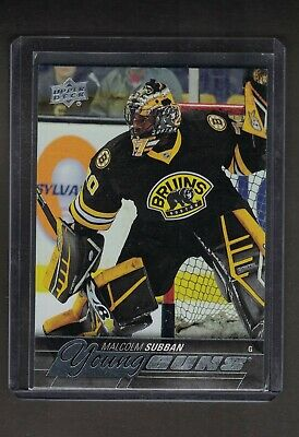 Ud 15/16  Malcolm Subban Young Guns Rookie Card  # 211 Boston Bruins