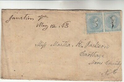 Confederate States Pair on Cover