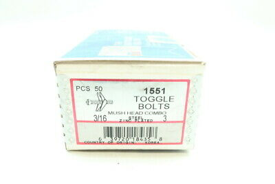 Box Of 50 Metallics 1551 Mush Head Combo Toggle Bolt 3/16in X 3in