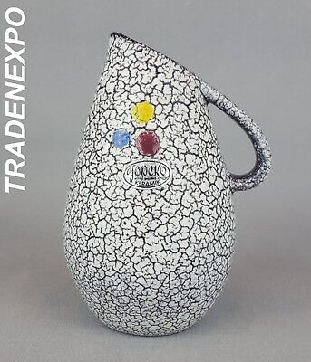 Vintage 1960-70's JOPEKO KERAMIK Three Dots Vase West German Pottery Fat Lava
