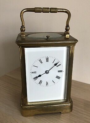 A Cased Antique 19Th Century Brass Repeater Carriage Clock, Richard Et Cie Paris