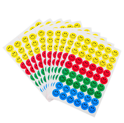 10 sheets (540pcs) New Stickers Colourful Round Smile Face Stickers Decal Kids