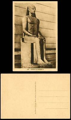Egypt Old Postcard Colossus Colosse de Ramses II Statue, Aux Musees d'Europe 167