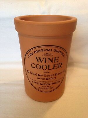 Vintage Henry Watson Pottery Terracotta Wine Cooler. Original Box & Instructions