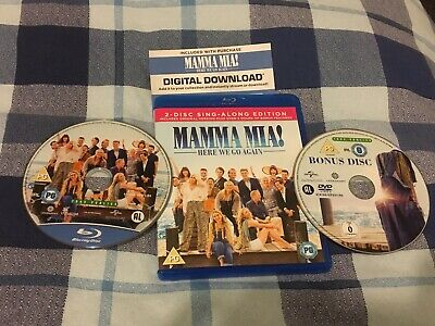 Mamma Mia Here We Go Again - 2 Disc Singalong Edition Blu Ray Inc Download  LOOK