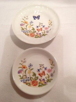 A Pair Of Aynsley Country Garden Dishes. A Pin Dish & A Bon Bon Dish. Lovely.
