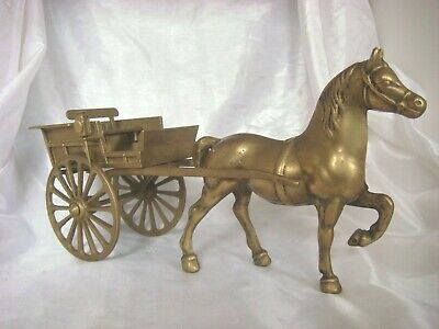 Lovely Brass Model of a Horse and Cart