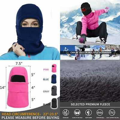 Balaclava Fleece Hood For Women Kids Thick Ski Face Mask Cold Weather Winter War