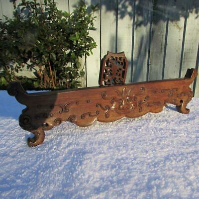 Antique Chinese 18th / 19th Century Carved Hongmu Stand for Screen / Plaque