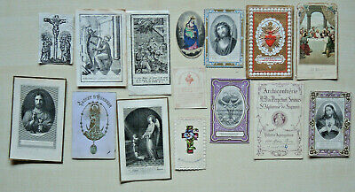 15 x Andachtsbilder  holy cards  bidprentje santini image pieuses  LUXUSPAPIER